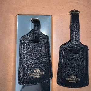 Authentic New Coach luggage tags